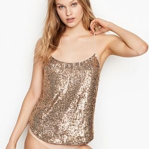 Victoria's Secret Gold Sequin Tank - NWT